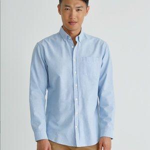 Frank + Oak Jasper Oxford Shirt in Light Blue